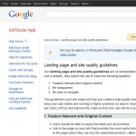 adwords landing page optimisation