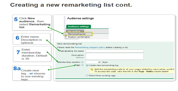Google Remarketing Set-Up - Step 2